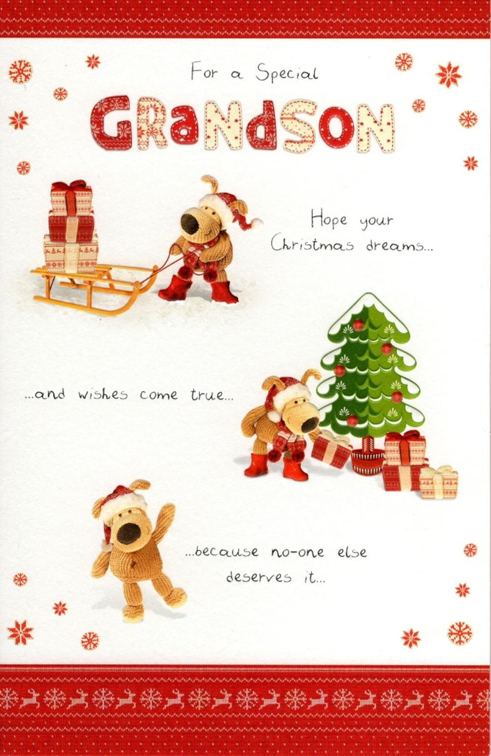 Boofle Special Grandson Christmas Greeting Card