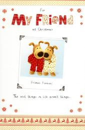 Boofle For My Friend Christmas Greeting Card