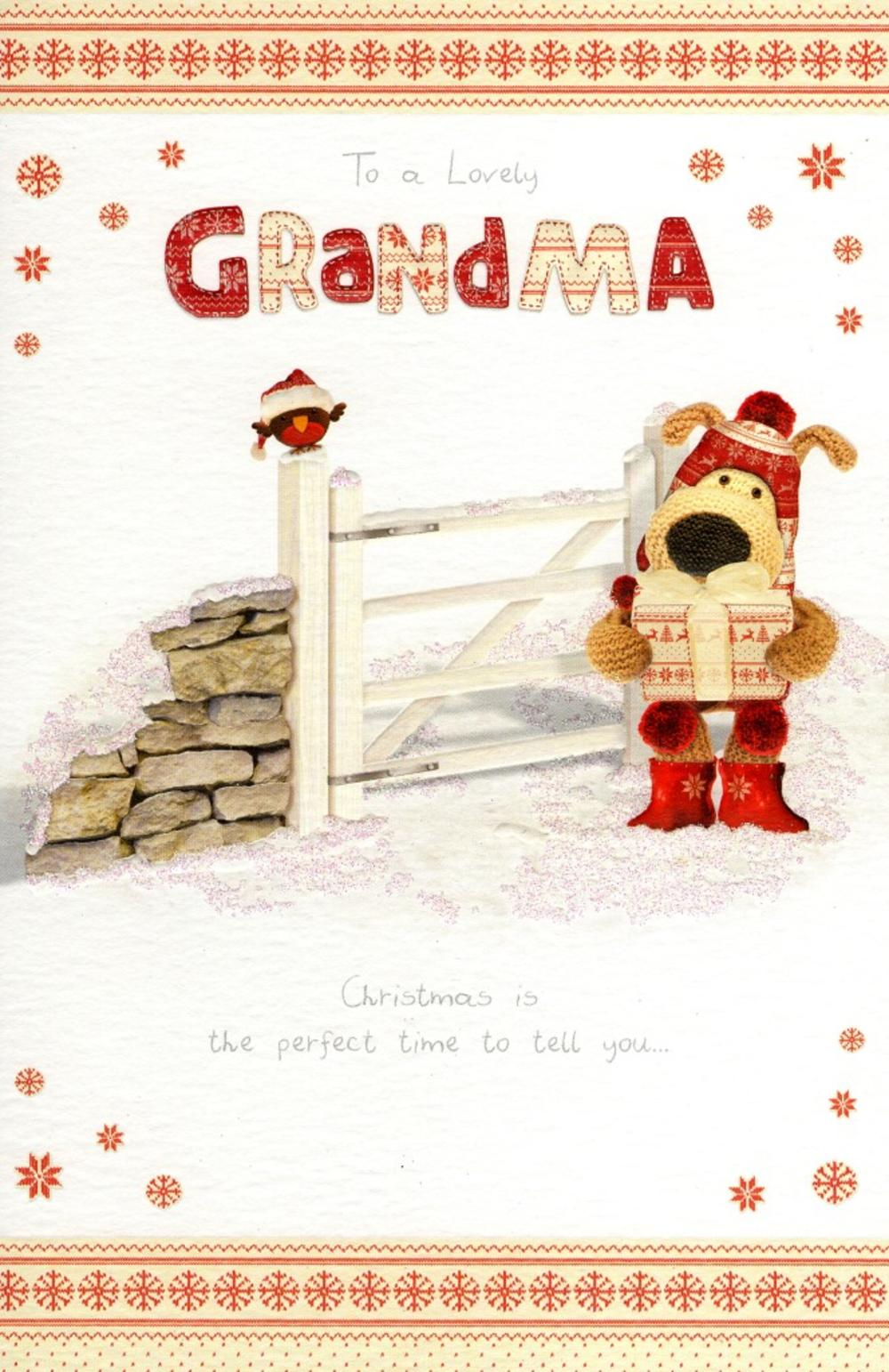 Boofle Lovely Grandma Christmas Greeting Card
