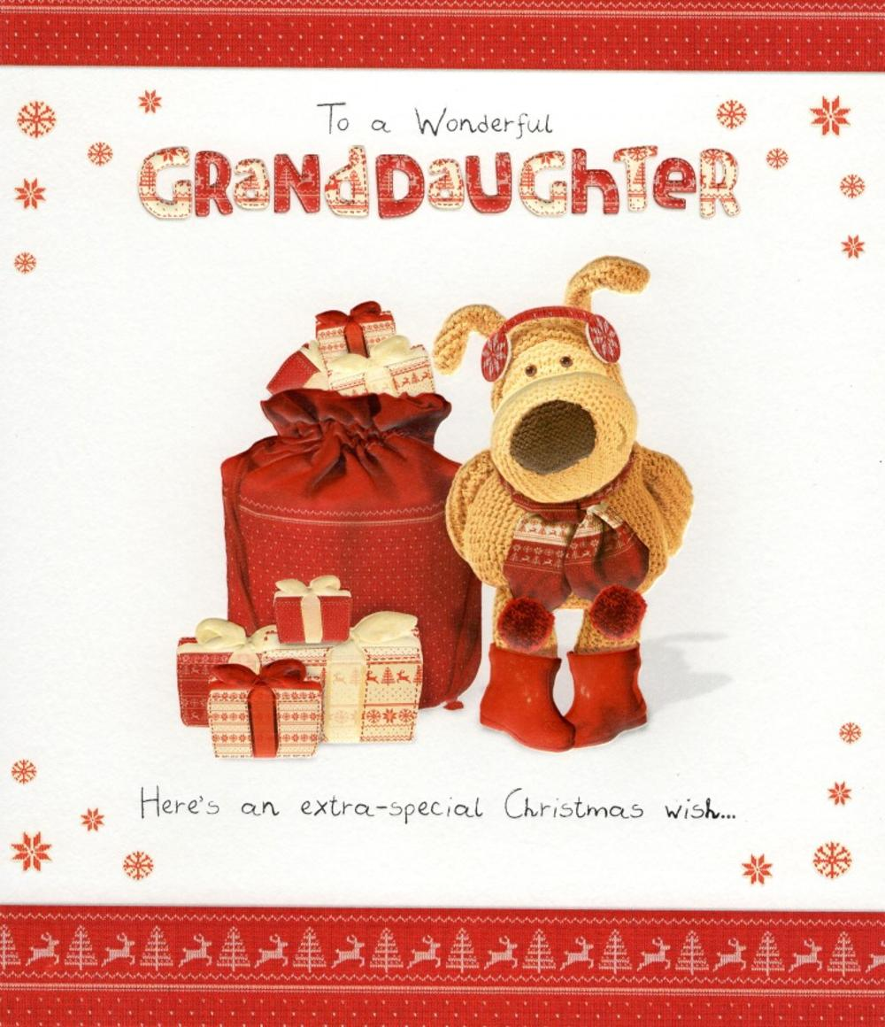 Boofle Granddaughter Christmas Greeting Card