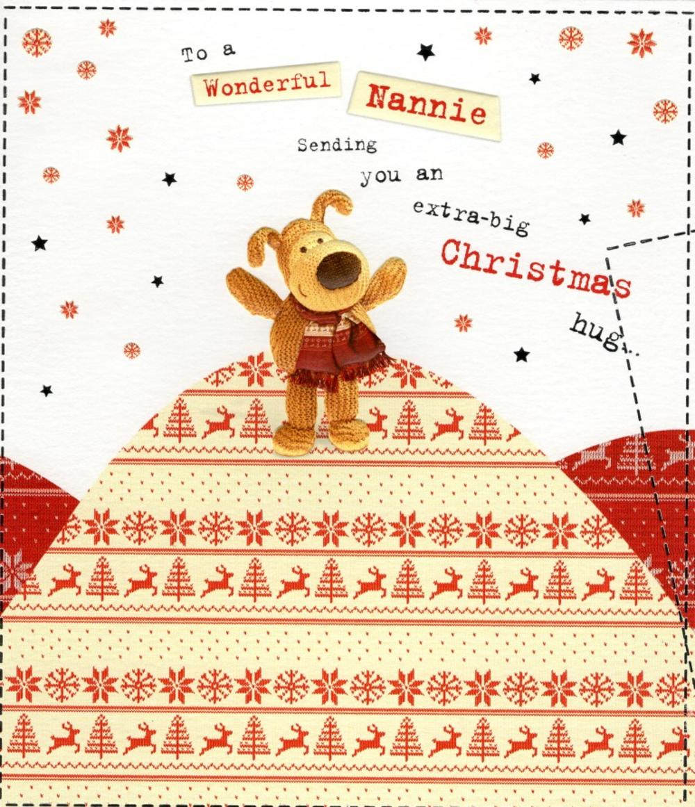 Boofle Wonderful Nannie Christmas Greeting Card