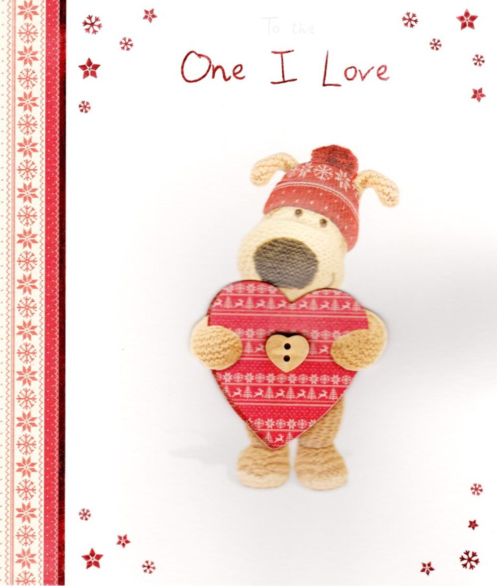 boofle to the one i love christmas greeting card - Love Christmas Cards