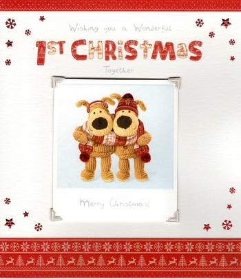 Boofle 1st Christmas Together Greeting Card