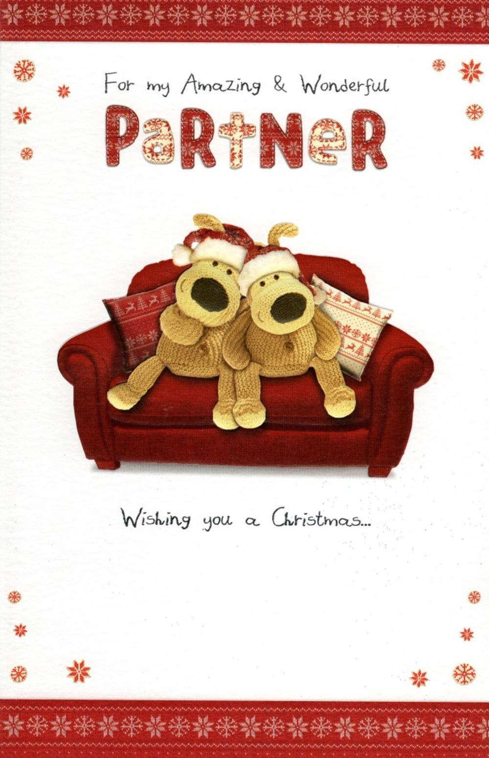 Boofle Amazing Partner Christmas Greeting Card