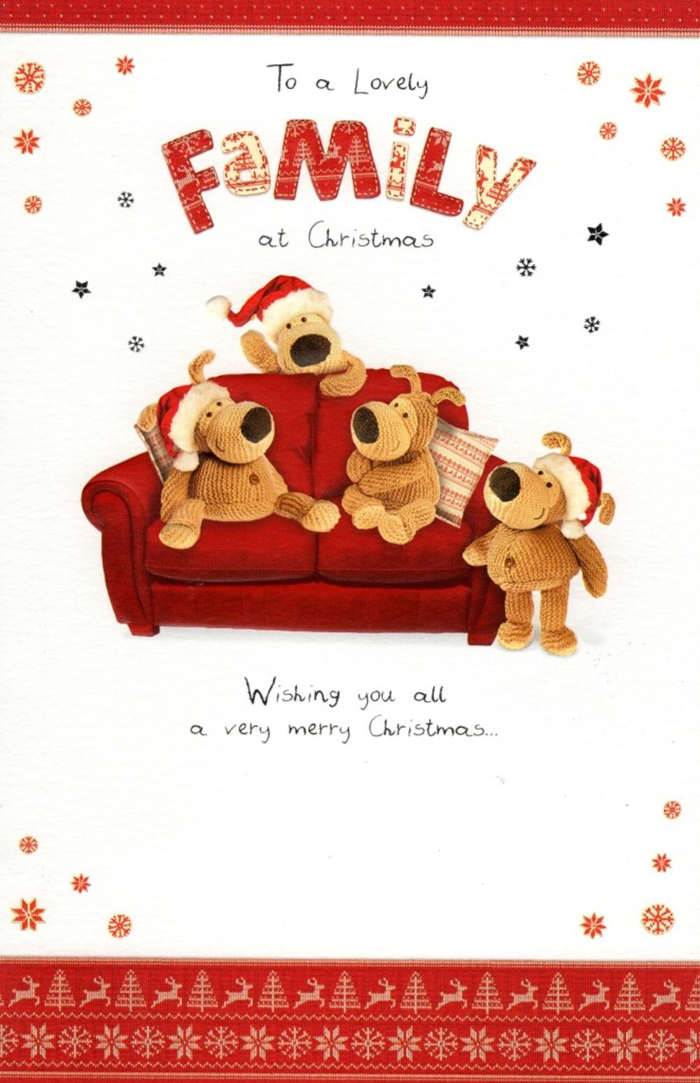 Boofle To A Lovely Family Christmas Greeting Card Cards