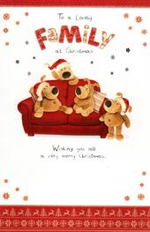 Boofle To A Lovely Family Christmas Greeting Card