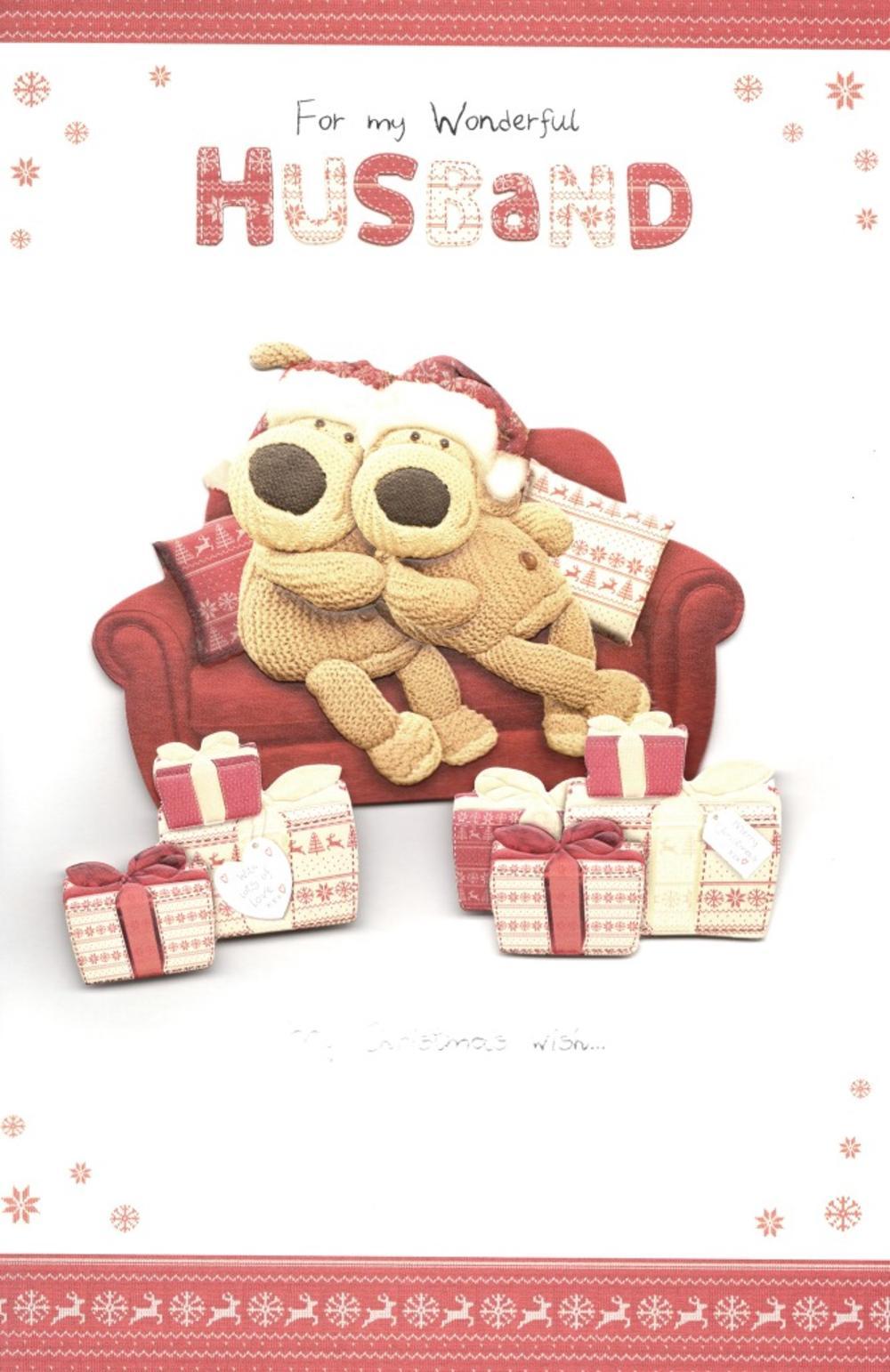 Boofle Wonderful Husband Christmas Greeting Card