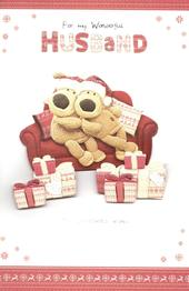 Boofle Wonderful Husband Christmas Greeting Card