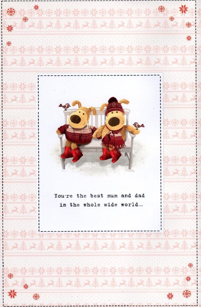 Boofle Mum & Dad Christmas Greeting Card Cute Range Greetings Cards ...