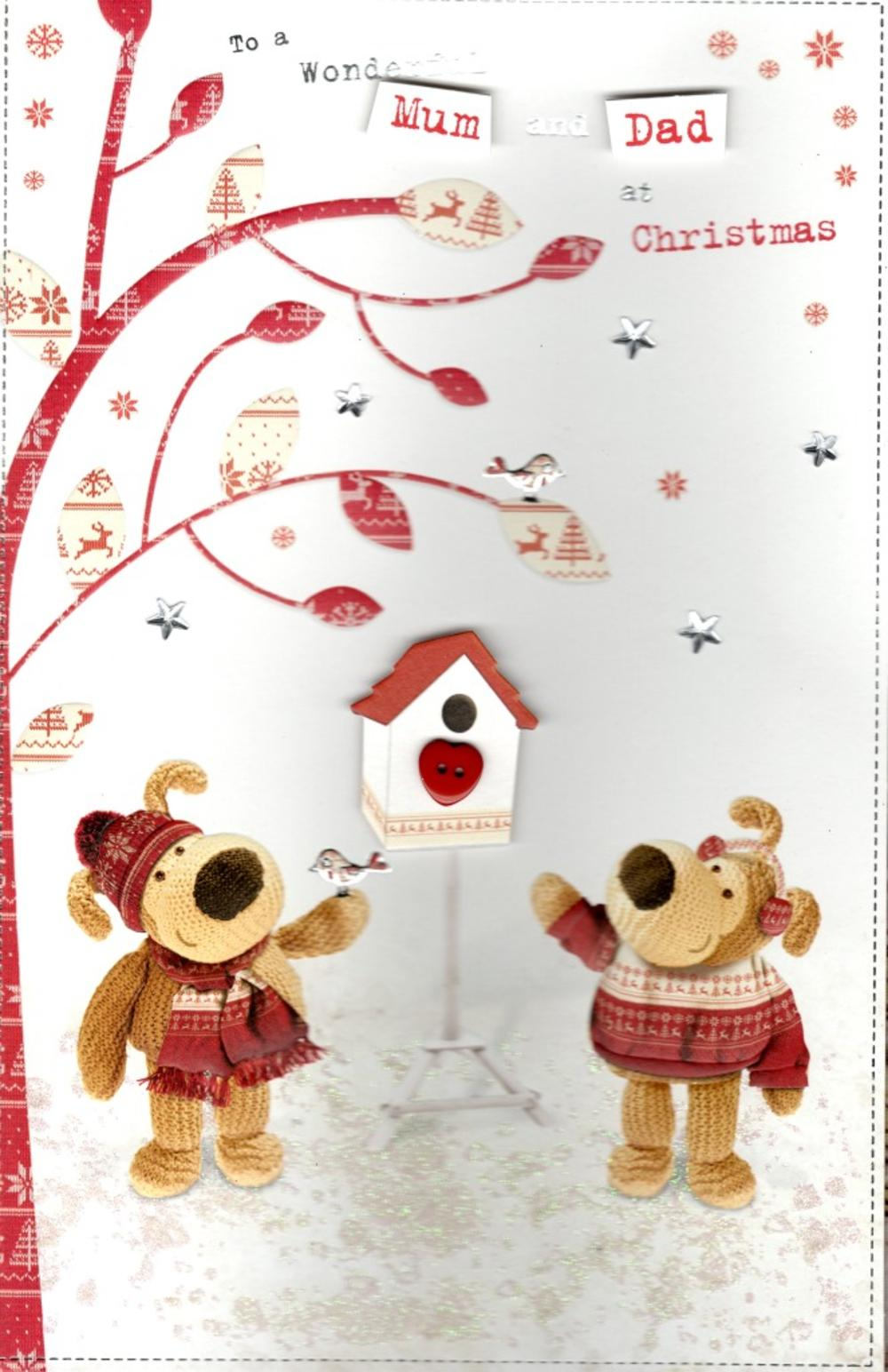 Boofle Mum & Dad Christmas Greeting Card