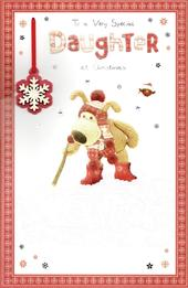 Boofle Special Daughter Christmas Greeting Card