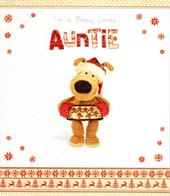 Boofle Lovely Auntie Christmas Greeting Card