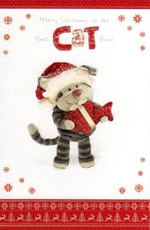 Boofle To The Cat Christmas Greeting Card