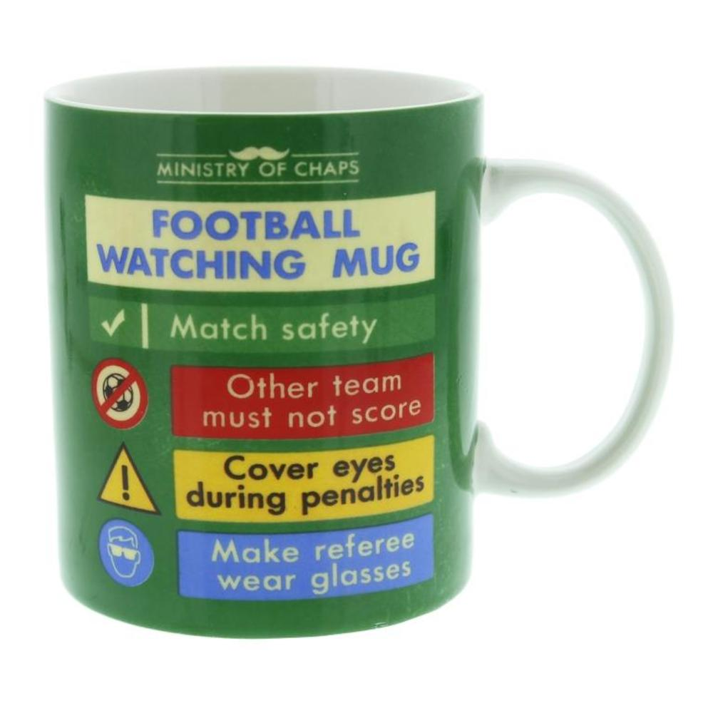 Ministry Of Chaps Football Watching Mug In Gift Box