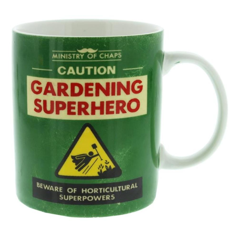 Ministry Of Chaps Gardening Superhero Mug In Gift Box