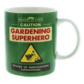 Ministry Of Chaps Gardening Superhero Mug In Gift Box
