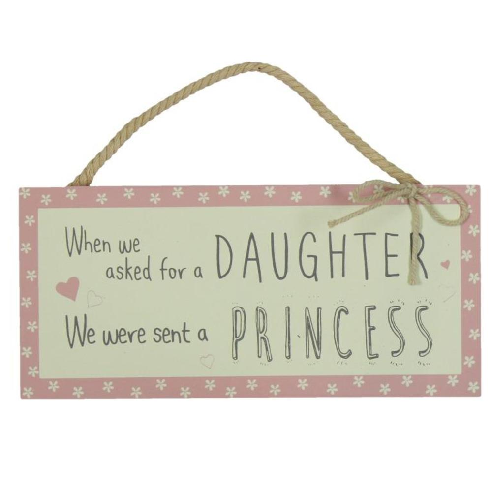 Asked For A Daughter Sent A Princess Hanging Plaque