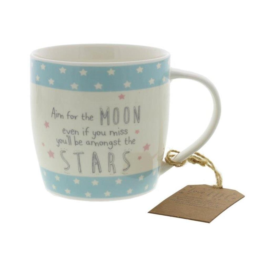 Aim For The Moon Ceramic Mug Gift Idea