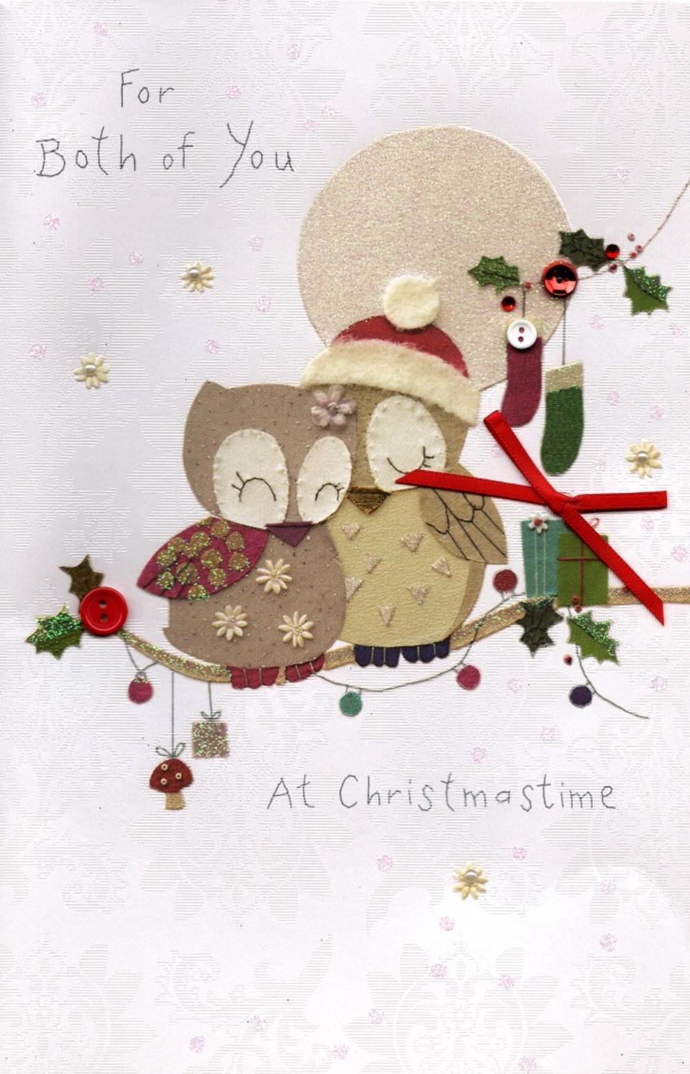 For Both Of You Christmas Greeting Card