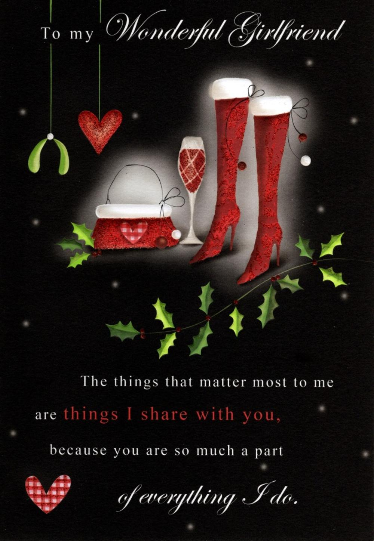 To My Wonderful Girlfriend Christmas Greeting Card