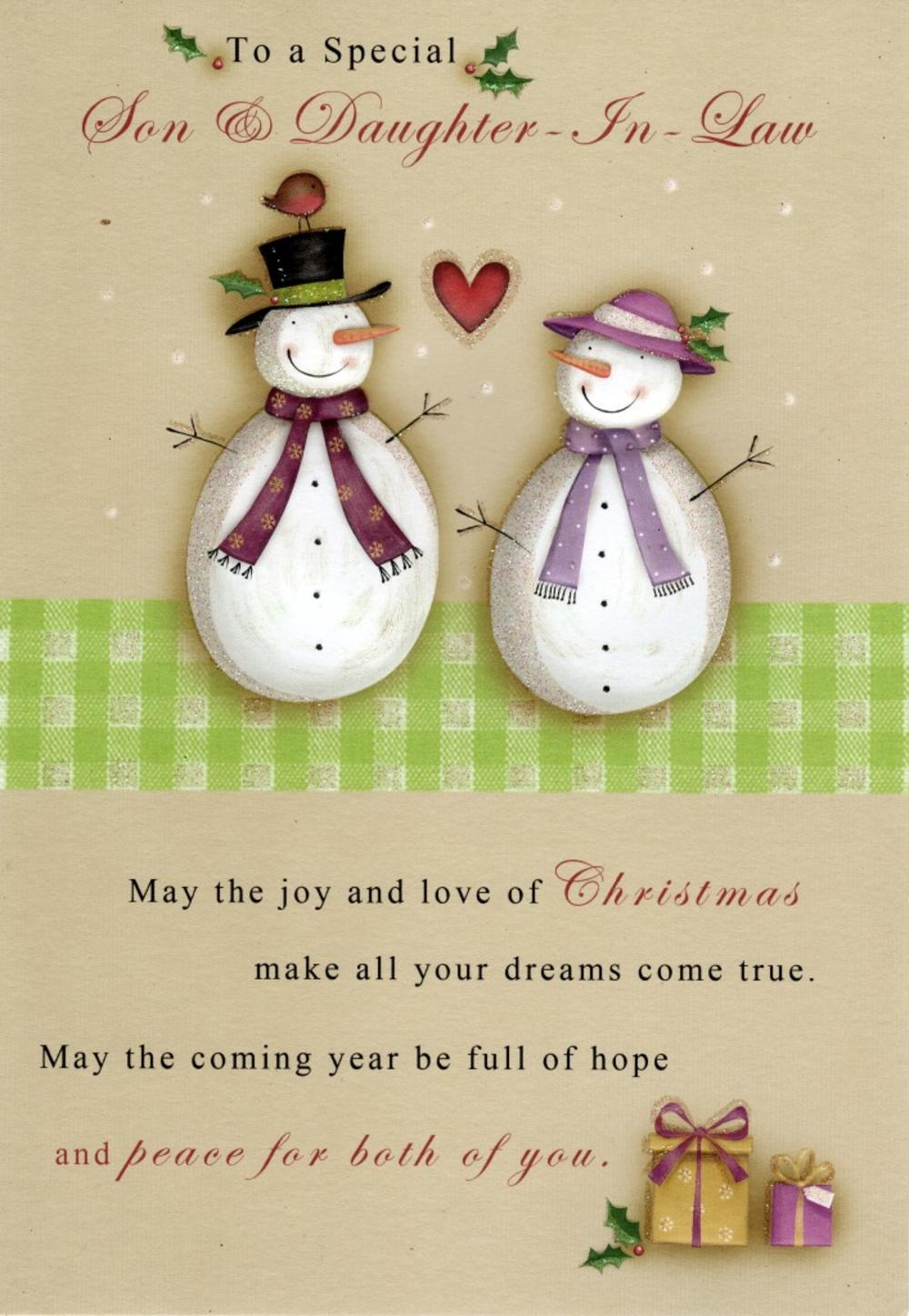 Son & Daughter-In-Law Christmas Greeting Card | Cards | Love Kates