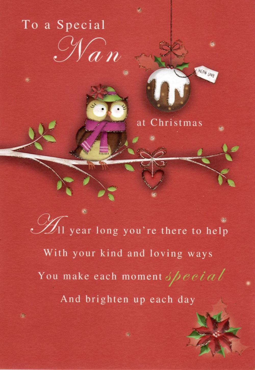 To a special nan christmas greeting card cards love kates to a special nan christmas greeting card kristyandbryce Images