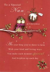 To A Special Nan Christmas Greeting Card