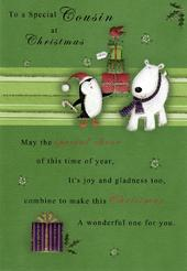 To A Special Cousin Christmas Greeting Card