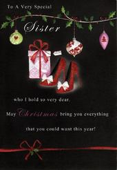 To A Special Sister Christmas Greeting Card