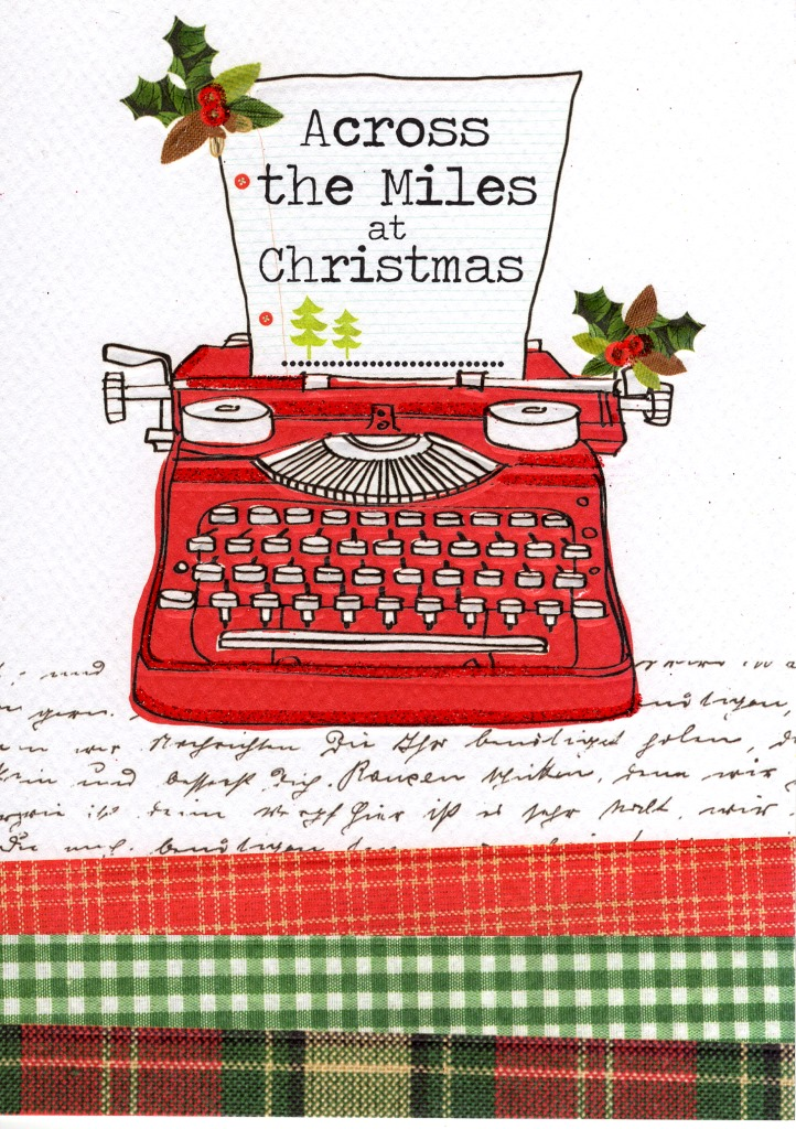 Across The Miles At Christmas Greeting Card Cards
