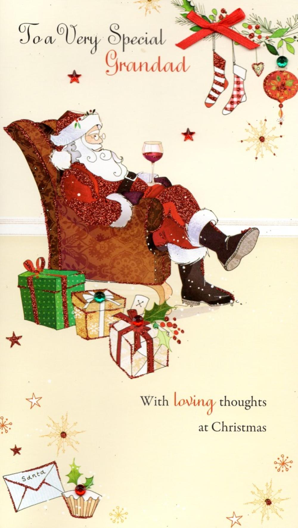 Very Special Grandad Christmas Greeting Card