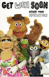 The Muppets Get Well Soon After Operation Card