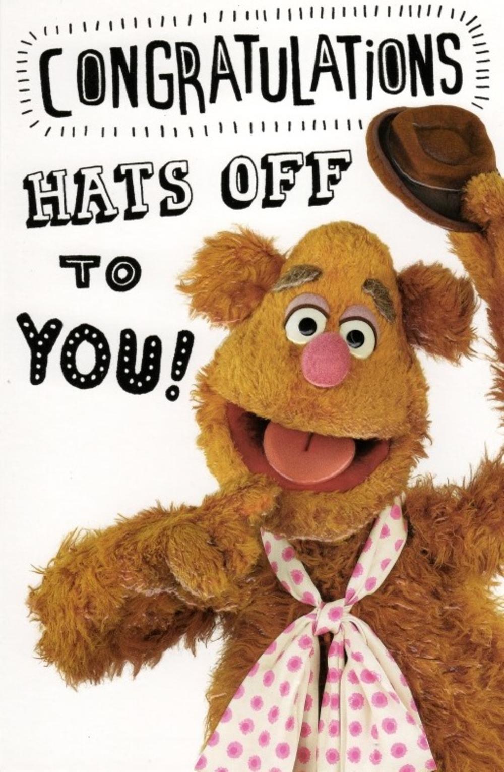Fozzie Bear Hats Off Congratulations Card