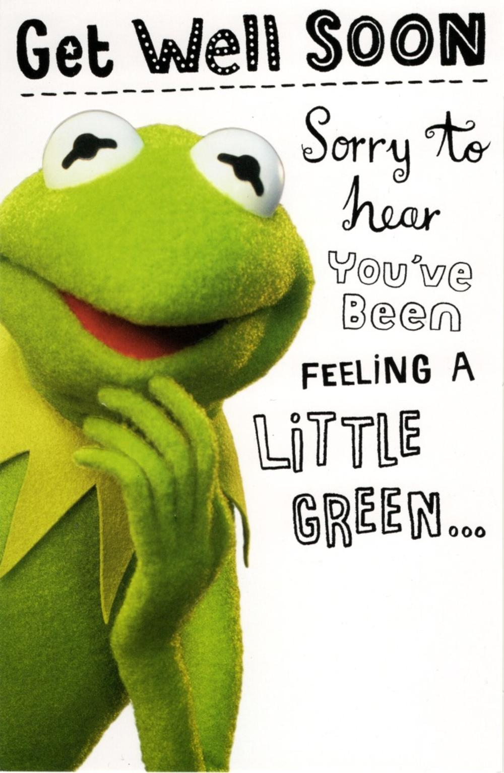 Kermit The Frog Get Well Soon Card
