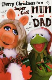 The Muppets Mum & Dad Christmas Card