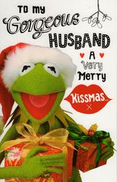 Kermit The Frog Husband Christmas Card