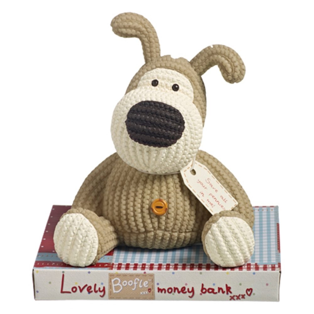 Boofle Resin Money Box With Stopper