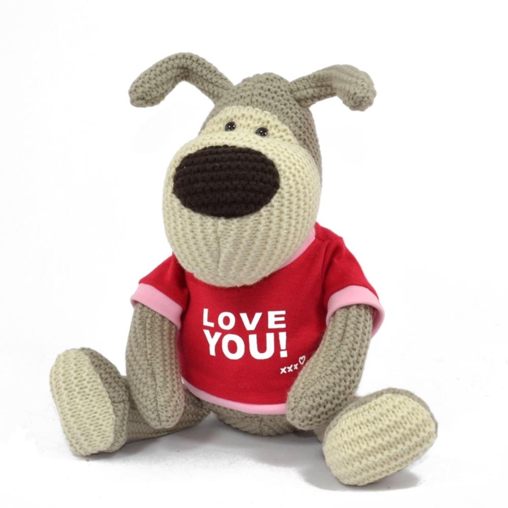 "Boofle Wearing Love You T-Shirt 8"" Sitting Boofle Plush"