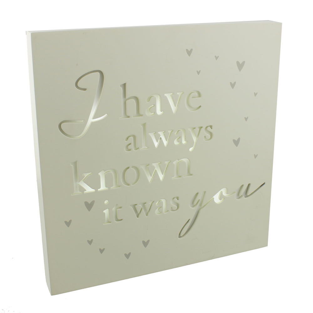 I Have Always Known It Was You Light Up Wall Plaque