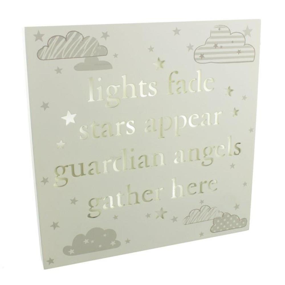 Lights Fade Stars Appear Light Up Wall Plaque