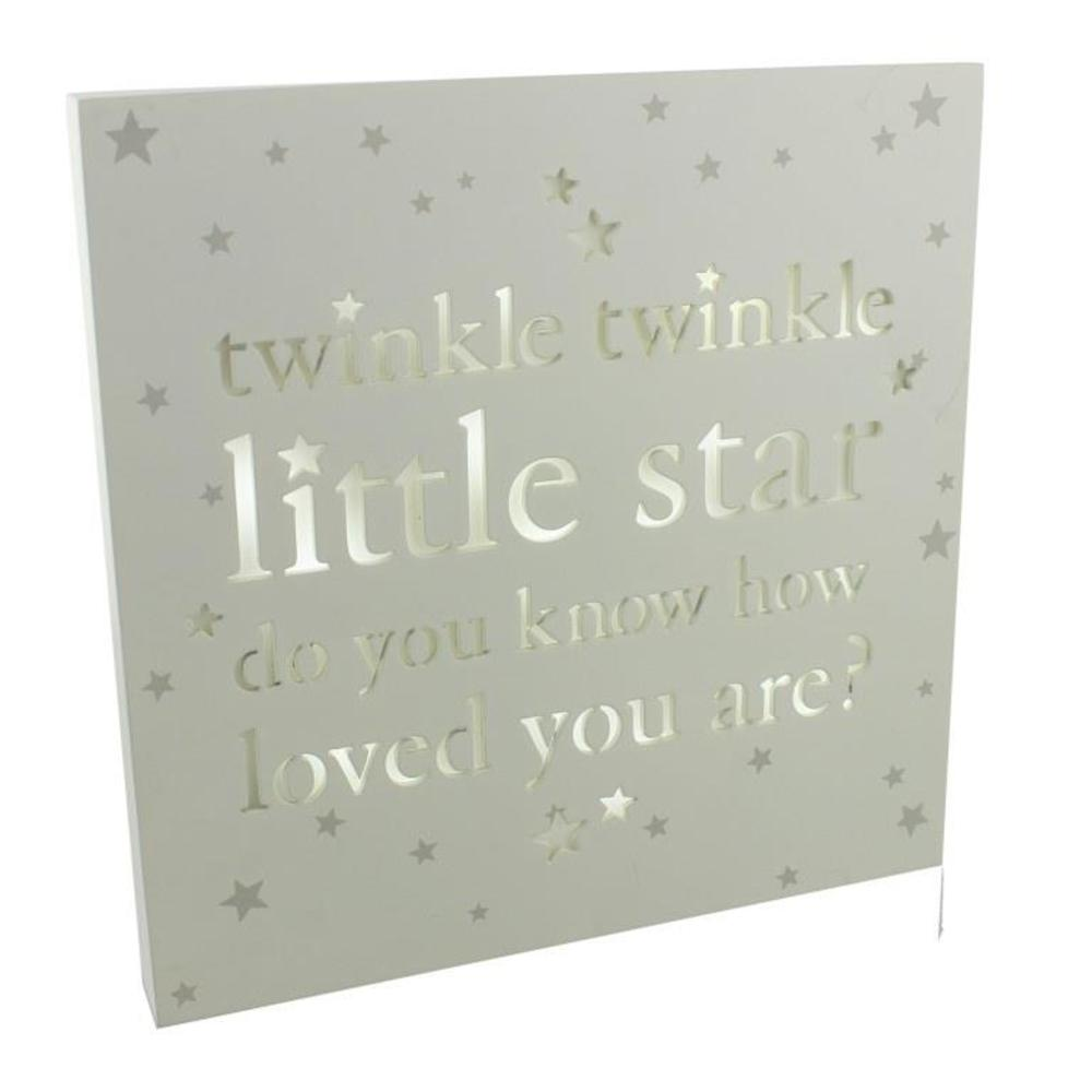 Twinkle Twinkle Little Star Light Up Wall Plaque