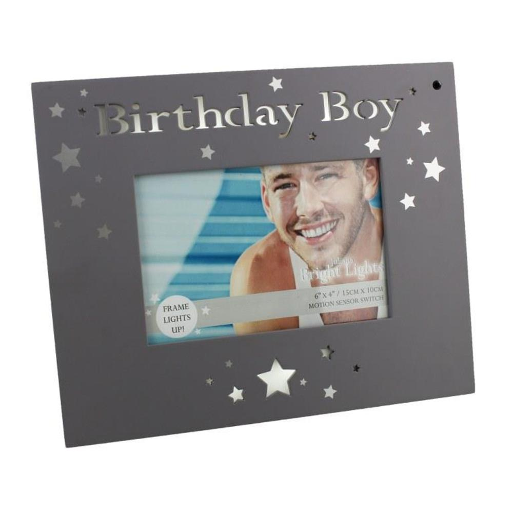 Birthday Boy Light Up Motion Sensor Photo Frame