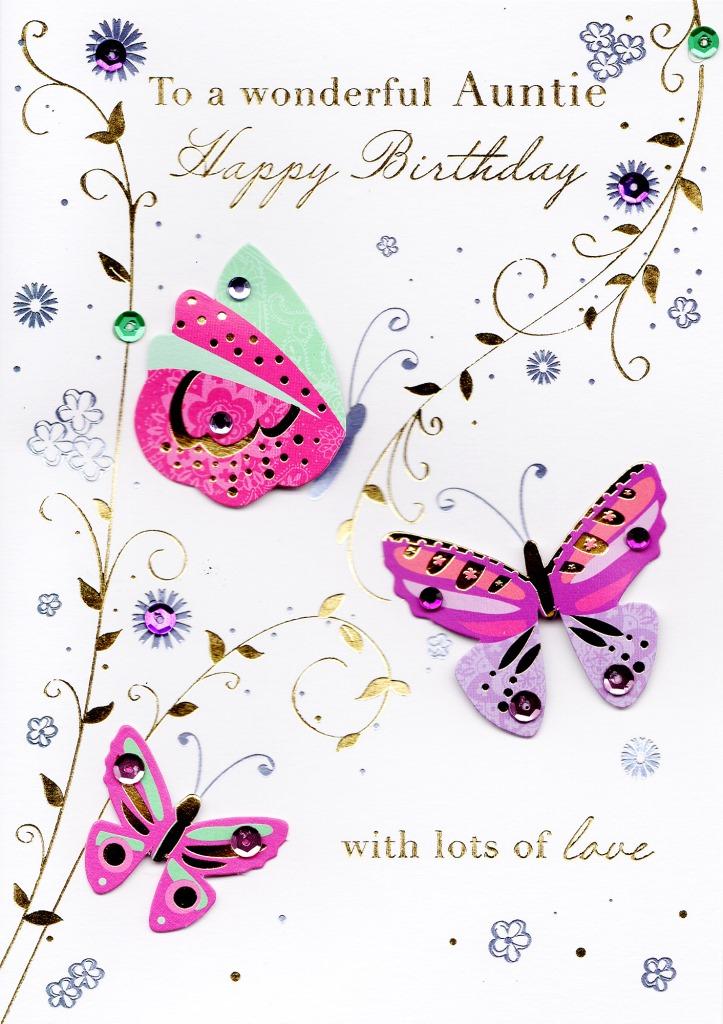 Wonderful auntie handmade birthday greeting card cards love kates wonderful auntie handmade birthday greeting card m4hsunfo