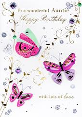 Wonderful Auntie Handmade Birthday Greeting Card