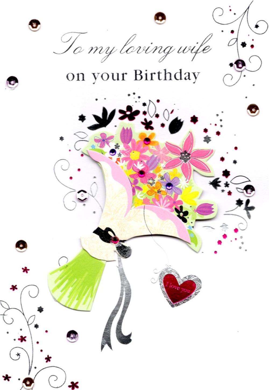Loving Wife Handmade Birthday Greeting Card