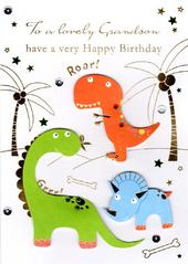 Lovely Grandson Handmade Birthday Greeting Card