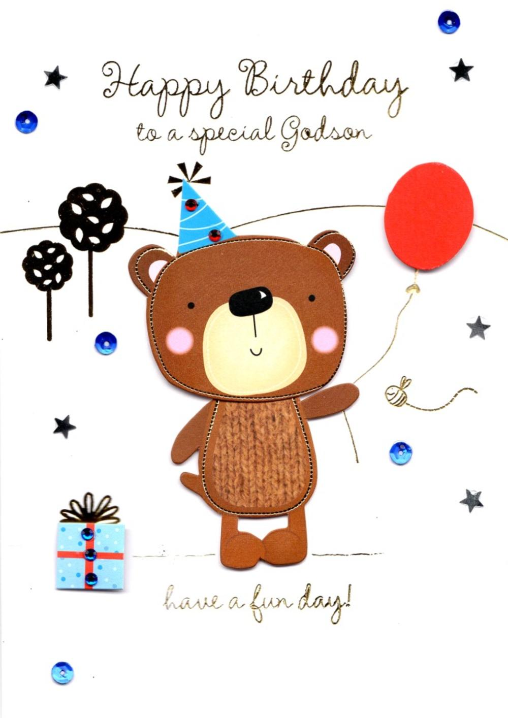 Special godson handmade birthday greeting card cards love kates special godson handmade birthday greeting card m4hsunfo