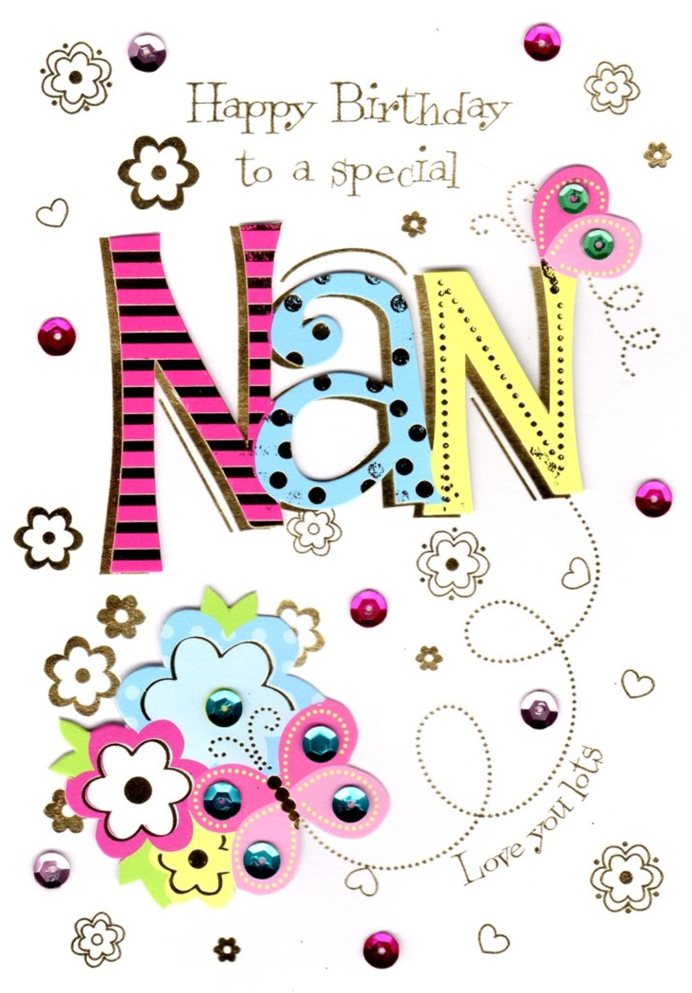 Special Nan Handmade Birthday Greeting Card