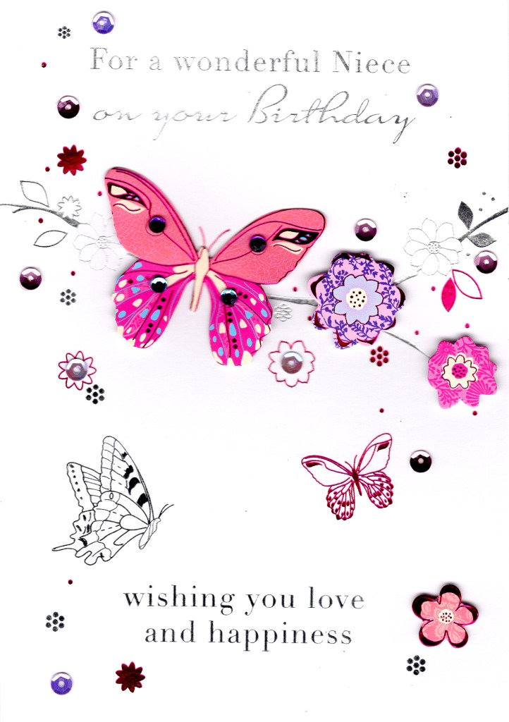 Wonderful Niece Handmade Birthday Greeting Card Cards