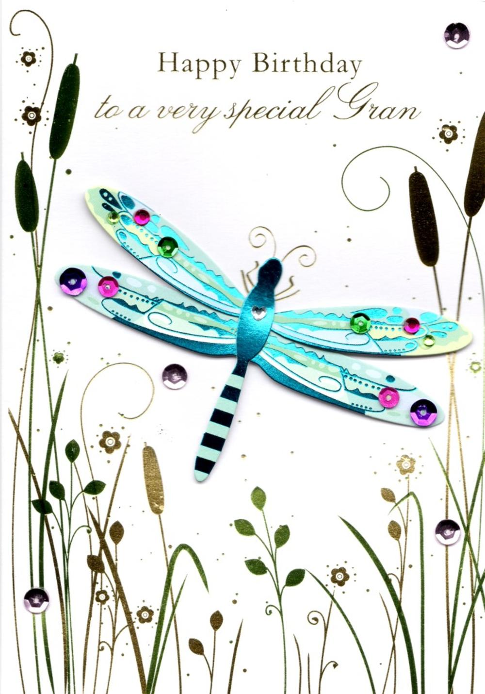 Special Gran Handmade Birthday Greeting Card Cards